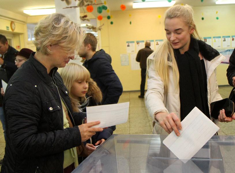 Głosowanie w Wilnie /AFP
