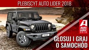 Głosuj w plebiscycie Auto Lider 2018 i graj o nowego Jeepa Wranglera
