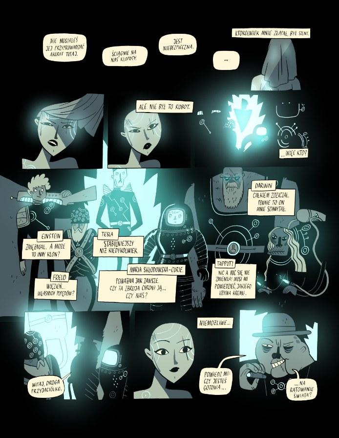 """Główną bohaterką komiksu """"Super Naukoledzy 2099"""" jest Ada Lovelace. W rzeczywistości była matematyczką, tutaj jako hakerka próbuje uchronić świat /materiały prasowe"""