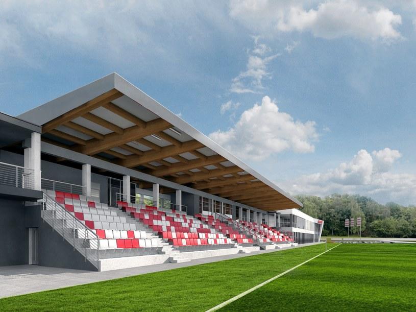 Główne boisko ośrodka Cracovii będzie miało krytą trybunę /INTERIA.PL