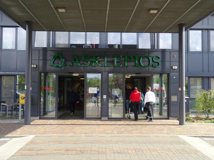 Główne wejście szpitala w Schwedt /Wojciech Szymański/ Deutsche Welle /Archiwum autora