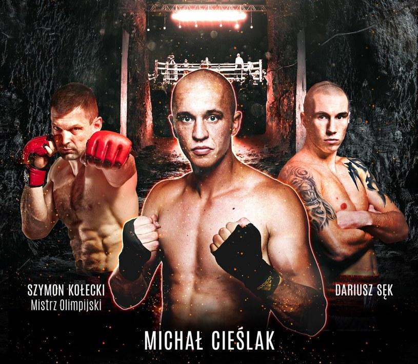 Główni bohaterowie sobotniej gali boksu zawodowego w Wieliczce /Informacja prasowa