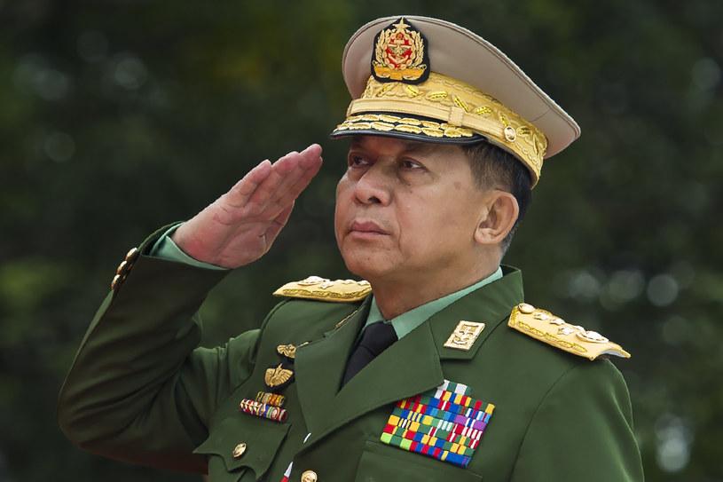 Głównodowodzących birmańskich sił zbrojnych Min Aung Hlaing /Ye Aung Thu / AFP /AFP