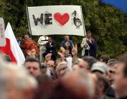 Głównym elementem kampanii wyborczej były niedawne wiece w stolicy / fot. Marcin Smulczyński /Agencja SE/East News