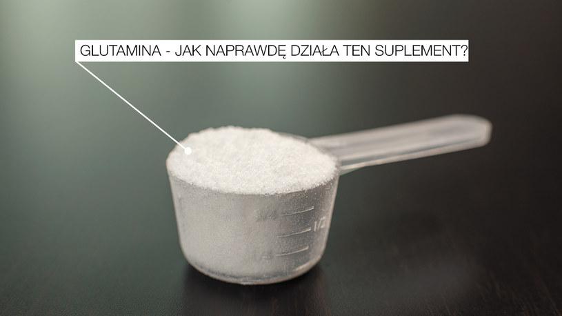 Glutamina - jej działanie jest wyjątkowo złudne /INTERIA.PL