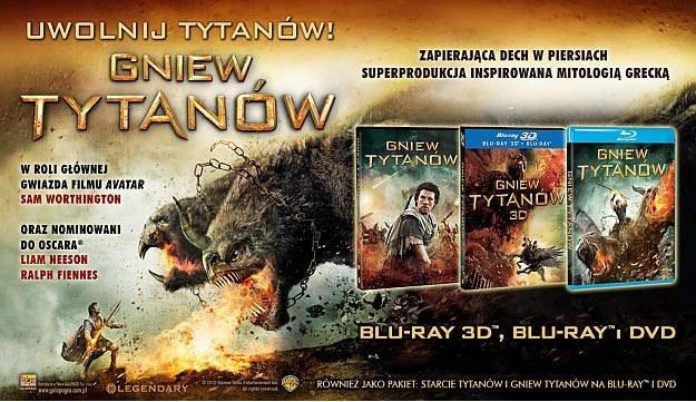 """""""Gniew tytanów"""" pojai się na Blu-ray 3D, Blu-ray oraz DVD /materiały dystrybutora"""