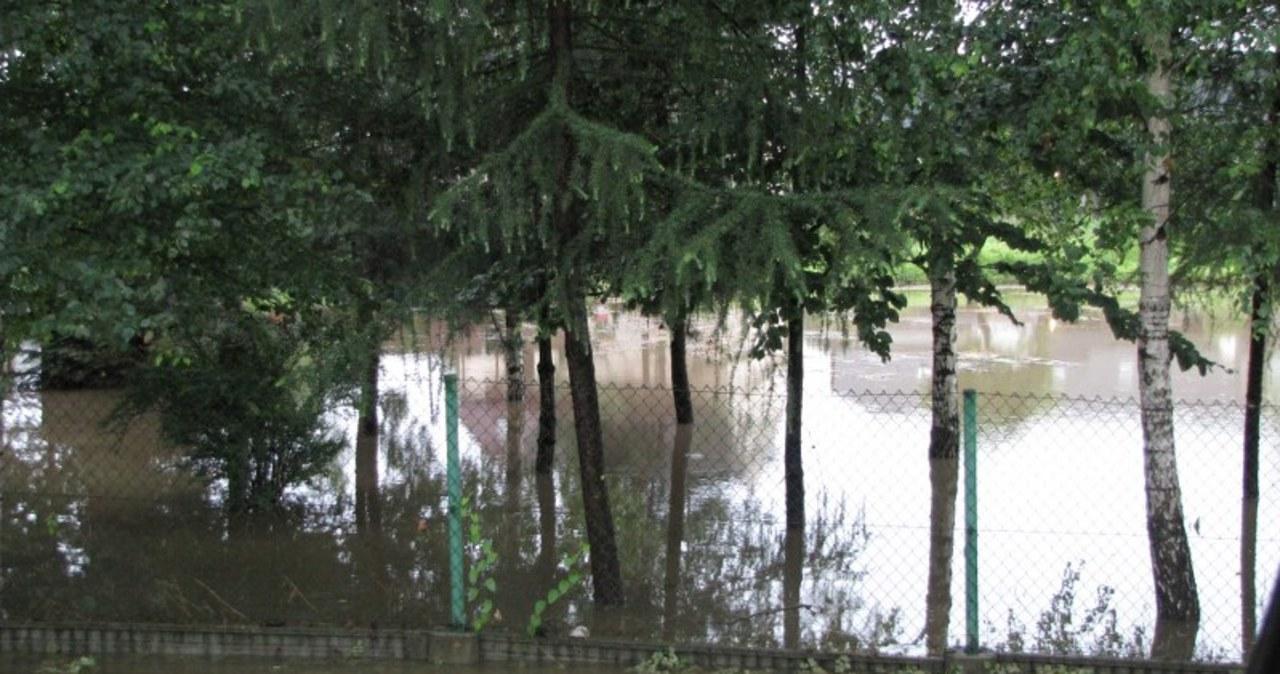 Goczałkowice w Śląskiem podtopione po ulewach