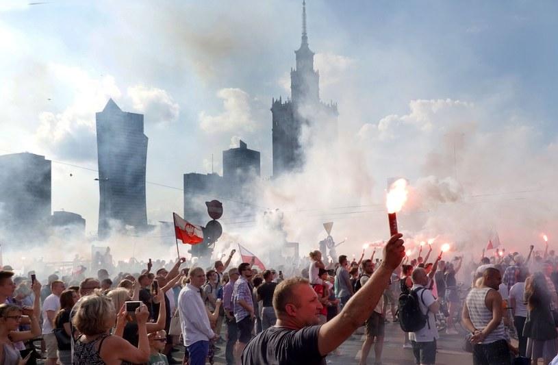 """Godzina """"W"""" na rodzie Dmowskiego; zdjęcie z 2018 roku /Wojtek Laski /East News"""