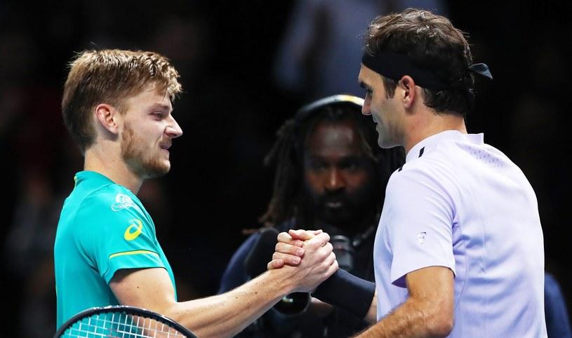 Goffin i Federer po meczu w Londynie /PAP/EPA