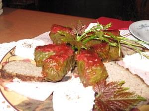 Gołąbki na liściach winogronowych //RMF FM