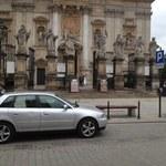 Golas siedział w samochodzie w centrum Krakowa