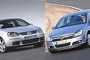 Golf V i Astra III /INTERIA.PL