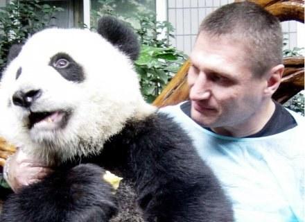 Gołota i jego nowy przyjaciel - Panda /ASInfo