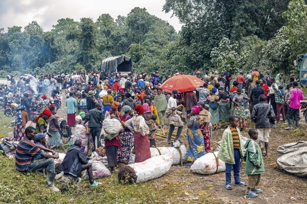 Gomę opuściło 400 tys. osób /Michel Lunanga /PAP/EPA