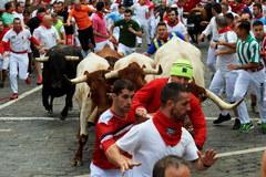 Gonitwa z bykami w Pampelunie
