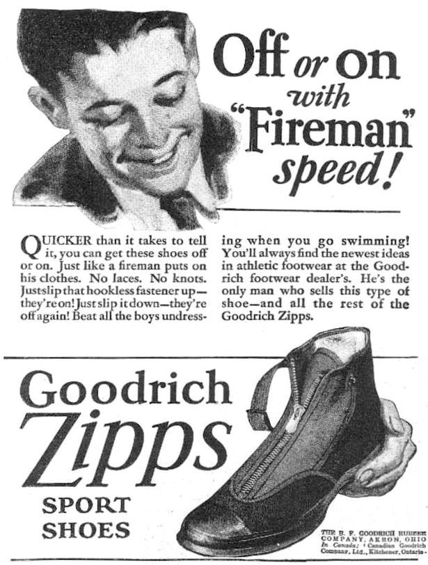 Goodrich Zipps - buty sportowe na zamek błyskawiczny z lat 20. /materiały prasowe