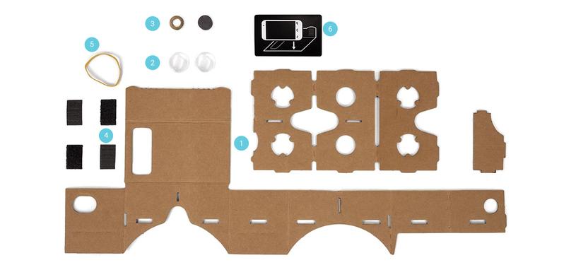 Google Cardboard przed złożeniem /materiały prasowe
