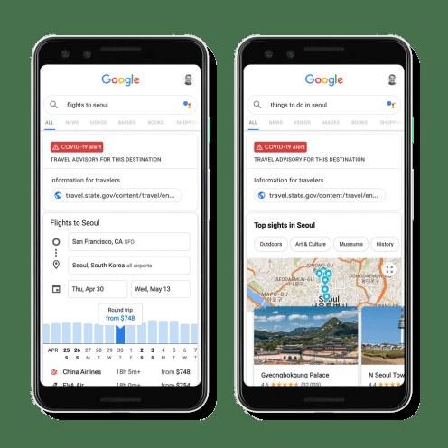 Google dodaje wskazówki dotyczące pandemii /materiały prasowe