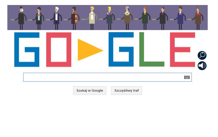 Google Doodle z Doktorem Who w roli głównej /materiały prasowe