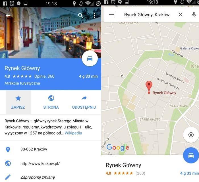 Google Maps w wersji offline wymaga zapisania startu i końca naszej podróży. Nie ma mowy o wybraniu punktów pośrednich /materiały prasowe