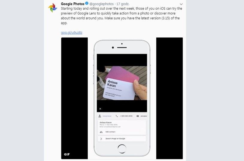 Google nie zapomniało o użytkownikach systemu iOS /Google /Twitter