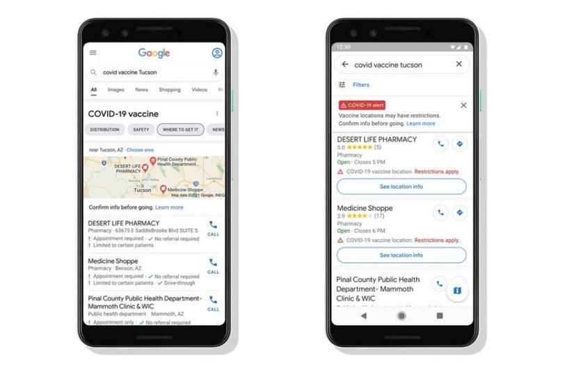 Google pomoże rozeznać się w temacie szczepień /materiały prasowe