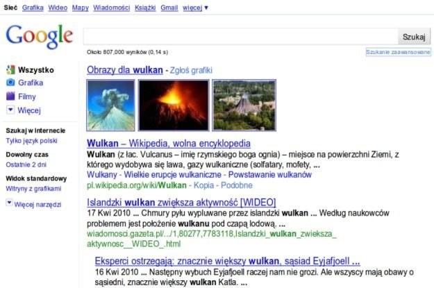 Google - teraz zacznie pokazywać  listę opcji po lewej stronie /HeiseOnline