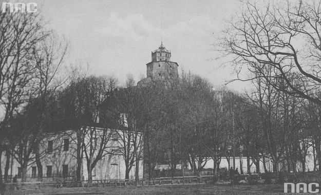 Góra Zamkowa w Wilnie. Zdjęcie przedwojenne /Z archiwum Narodowego Archiwum Cyfrowego