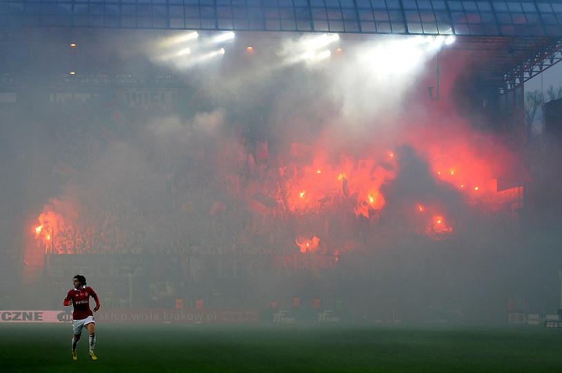 Gorąca atmosfera podczas meczu Wisły z Legią /Joanna Żmijewska /INTERIA.PL