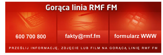 Gorąca Linia RMF FM jest do waszej dyspozycji. /RMF