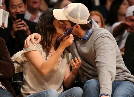 Gorące pocałunki na meczu