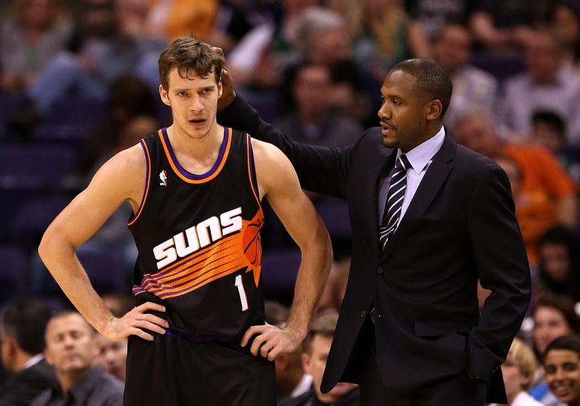 Gorand Dragic i trener Suns Lindsey Hunter /AFP