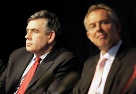 Gordon Brown i Tony Blair /AFP