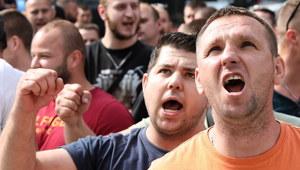 Górnicy demonstrowali pod siedzibą Polskiej Grupy Górniczej