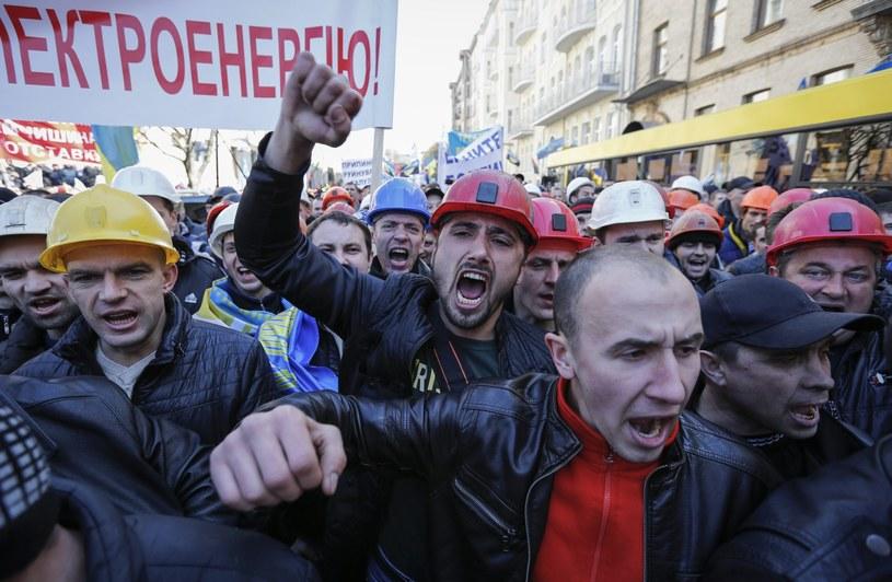 Górnicy protestowali przeciwko zamykaniu kopalń /PAP/EPA