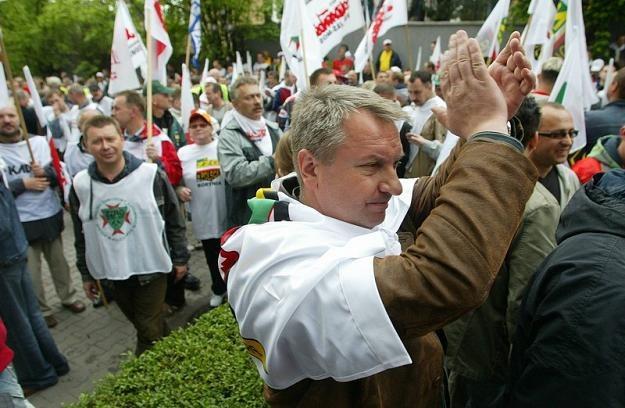 Górnicy z JSW burzliwie protestowali. Fot. PIOTR GAJEK /Agencja SE/East News