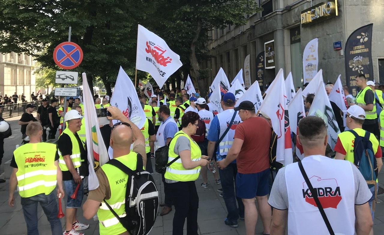 Górnicy z JSW protestowali w Warszawie. Prezes Ozon odwołany