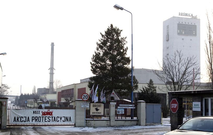 Górnicy z kopalni Sośnica-Makoszowy dołączyli do strajkujących /Andrzej Grygiel /PAP