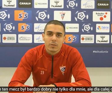 Górnik Zabrze. Giannis Masouras przed meczem z Podbeskidziem Bielsko-Biała. Wideo