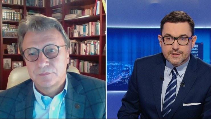 """""""Gość Wydarzeń"""" w Polsat News /Polsat News"""