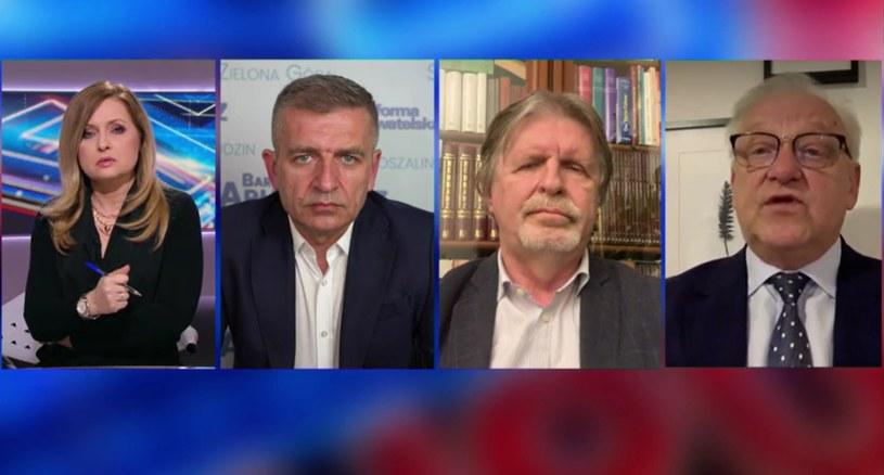 """Goście Agnieszki Gozdyry w """"Debacie dnia"""" w Polsat News /Polsatnews.pl"""
