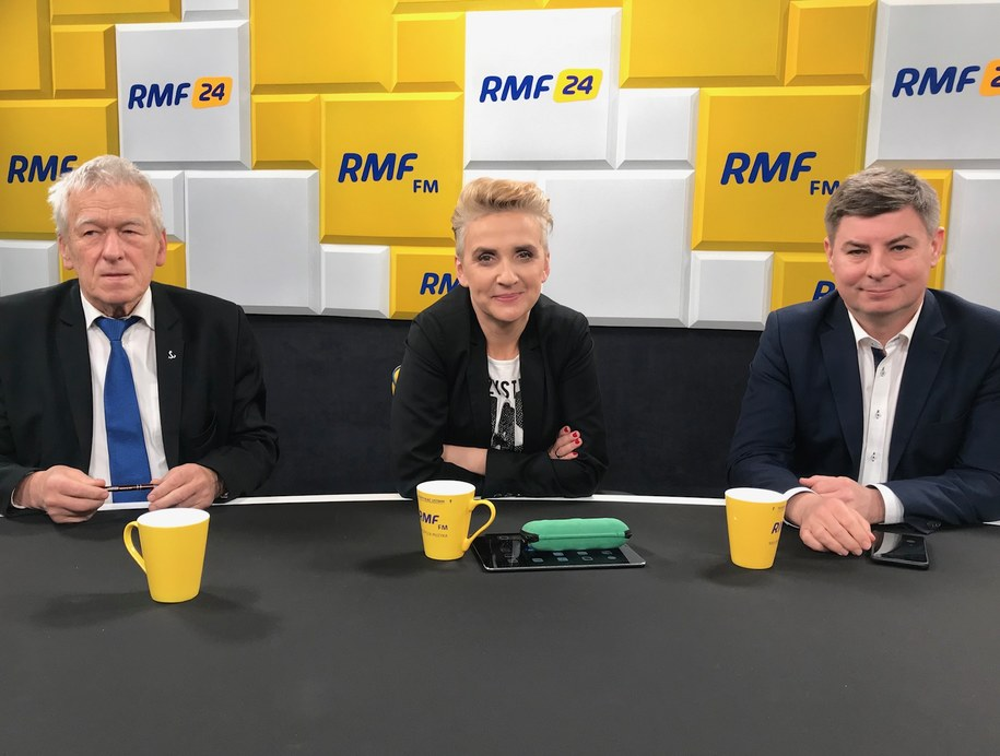 Goście dyskutowali o przemówieniu Jarosława Kaczyńskiego /Karolina Bereza, RMF FM