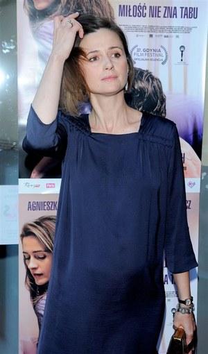 Goście Festiwalu Filmowego w Gdyni zauważyli zaokrąglony brzuch Agnieszki Grochowskiej /  /Agencja W. Impact