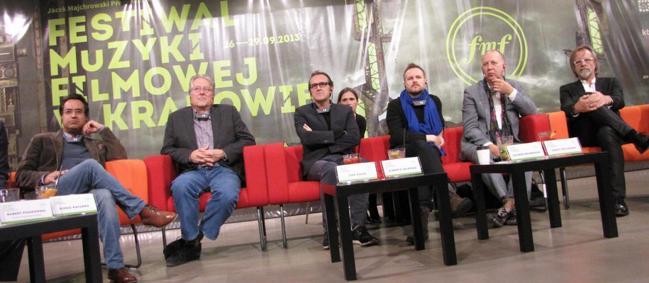 Goście FMF na koferencji prasowej /Jacek Skóra` /RMF FM