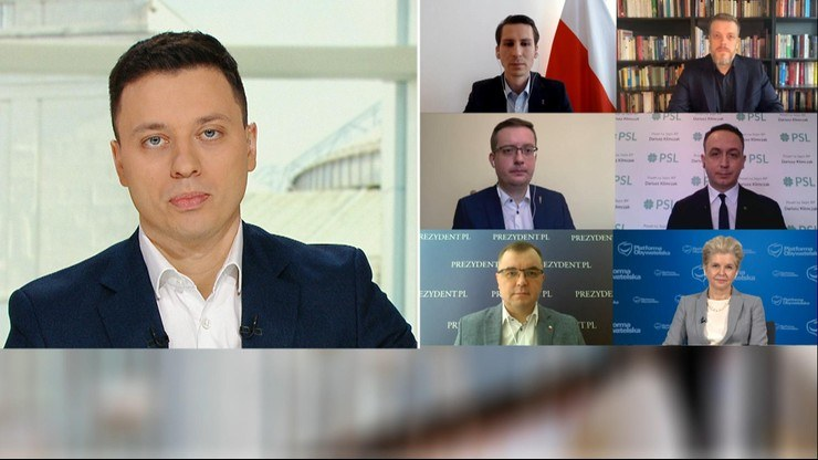 """Goście i prowadzący programu """"Śniadanie w Polsat News i Interii"""" /Polsatnews.pl"""