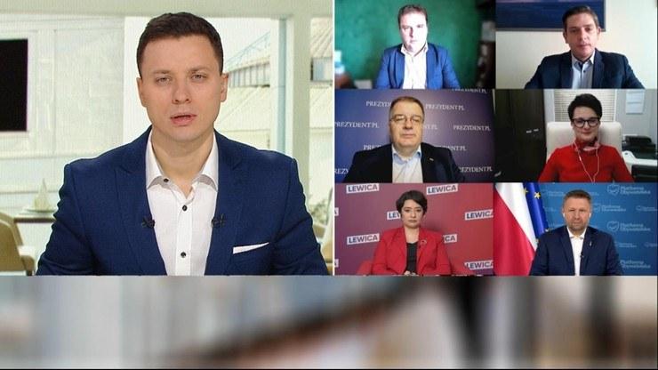 """Goście Piotra Witwickiego w """"Śniadaniu w Polsat News"""" /Polsat News"""