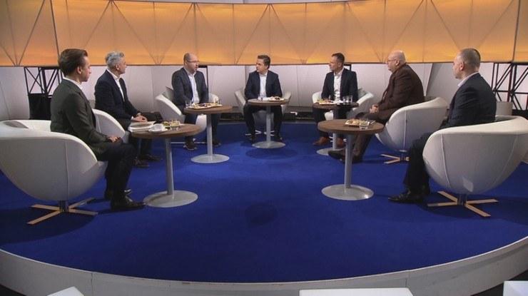 """Goście programu """"Śniadanie Rymanowskiego w Polsat News i Interii"""" /Polsat News"""