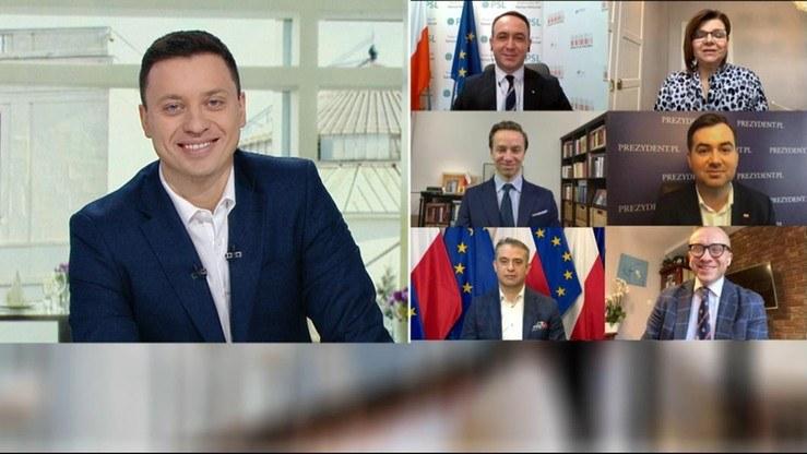 """Goście programu """"Śniadanie w Polsat News"""" /Polsat News"""
