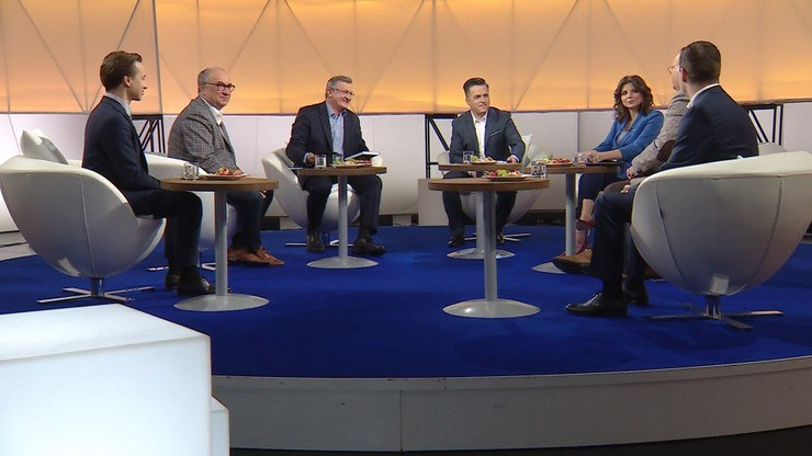 """Goście """"Śniadania Rymanowskiego w Polsat News i Interii"""" /Polsat News"""