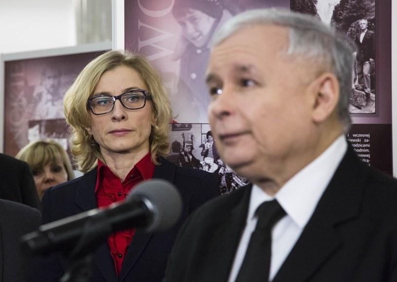 Gosiewska i Kaczyński /- /East News